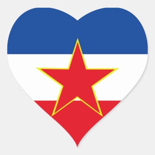 Flag of Yugoslavia Stickers
