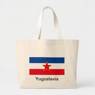 Flag of Yugoslavia Tote Bags