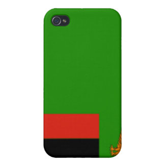 Flag of Zambia Cases For iPhone 4