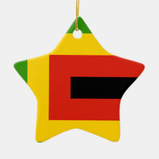 Flag of Zimbabwe African National Union Christmas Ornament