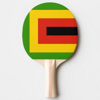 Flag of Zimbabwe African National Union Ping Pong Paddle