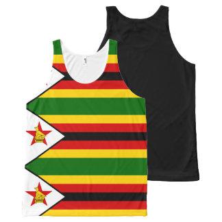 Flag of Zimbabwe - Zimbabwean - Mureza weZimbabwe All-Over Print Tank Top