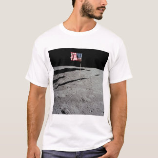 Flag on Moon, Apollo 11, NASA T-Shirt