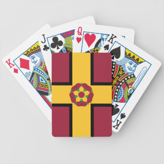 Flag on Northamptonshire Bicycle Playing Cards