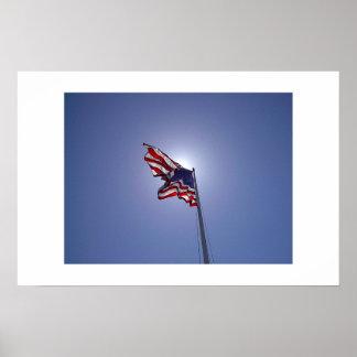 Flag over Fort Sumter  Poster