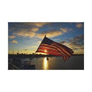 Flag Over The Bay Canvas Print