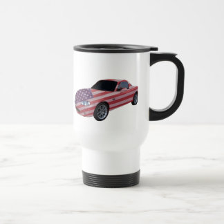 Flag painted car, on a travel  mug