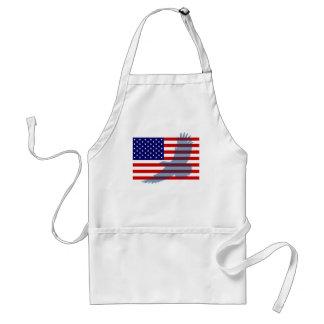 Flag & Patriotic Eagle Standard Apron