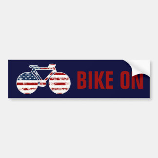 flag patriotic United States of America bicycle Bumper Sticker