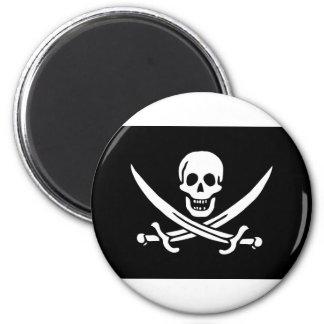 Flag Pirate 6 Cm Round Magnet