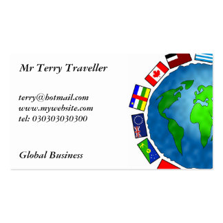 Flag Planet, Pack Of Standard Business Cards