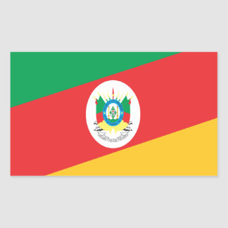 Flag Rio Grande Do Sul Brazil Rectangular Sticker