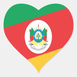 Flag Rio Grande Do Sul Brazil Heart Sticker