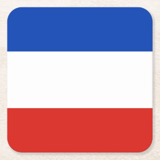 Flag Schleswig-Holstein Square Paper Coaster