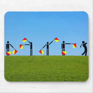 Flag Semaphore Quiz - Golf Mouse Pad