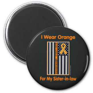 Flag/Sister-in-law...RSD/CRPS 6 Cm Round Magnet