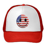 flag smiley face hats