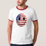 flag smiley face t-shirt