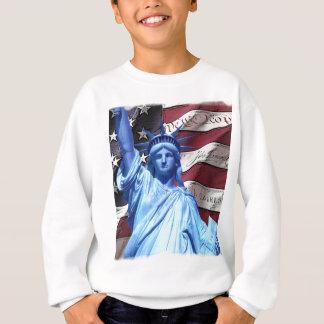 Flag & Statue of Liberty design Sweatshirt