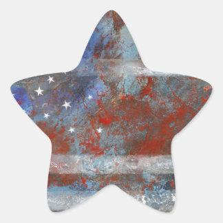 FLAG STAR STICKER