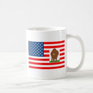 FLAG the USA BISON 1.PNG Mugs