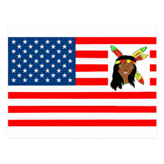 FLAG the USA INDIAN 1.PNG Postcards
