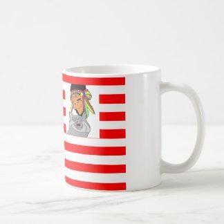 FLAG the USA INDIAN WOLF 1.PNG Coffee Mug