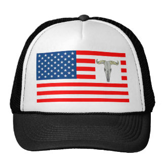 FLAG the USA SHOWS OFF OF BISON 1.PNG Mesh Hat