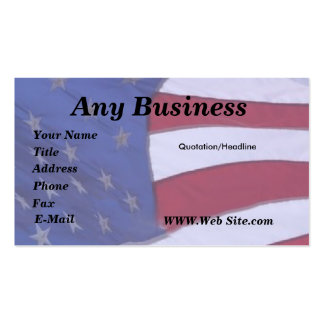 Flag U.S.A. customizable Pack Of Standard Business Cards