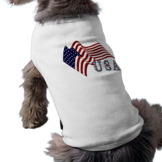 Flag USA Sleeveless Dog Shirt