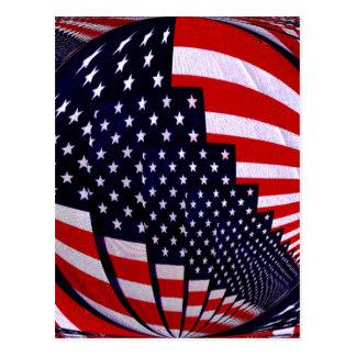 Flag-USA -Spread the Love_ Postcard