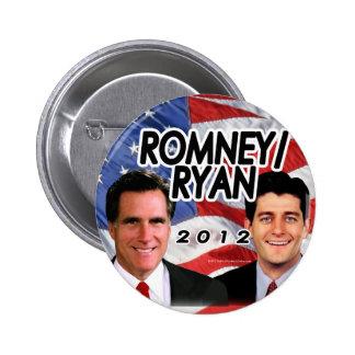 Flag w/Photo Romney/Ryan 2012 6 Cm Round Badge