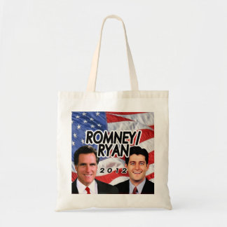 Flag w/Photo Romney/Ryan 2012 Canvas Bag