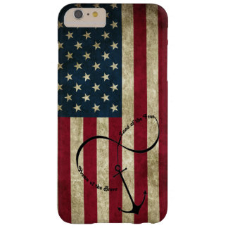 Flag with Infinity Anchor Barely There iPhone 6 Plus Case