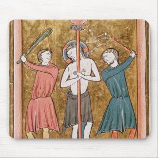 Flagellation, from 'Psautier a l'Usage de Paris' Mouse Pad