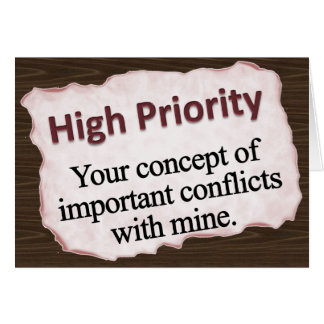 Flagged High Priority  Note Card