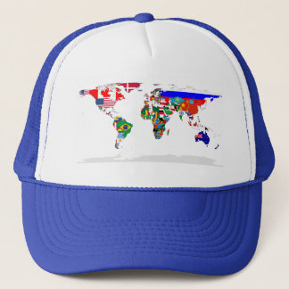 Flagged world cap