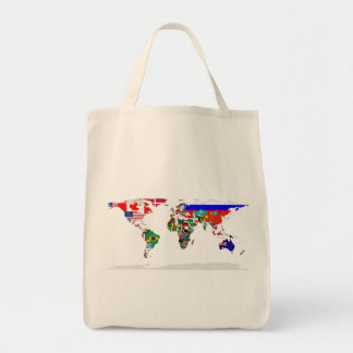 flagged world grocery tote bag