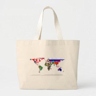 flagged world jumbo tote bag