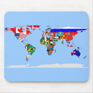 flagged world mouse mat