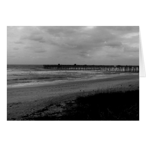 Flagler Beach Pier From the Shoreline Greeting Card
