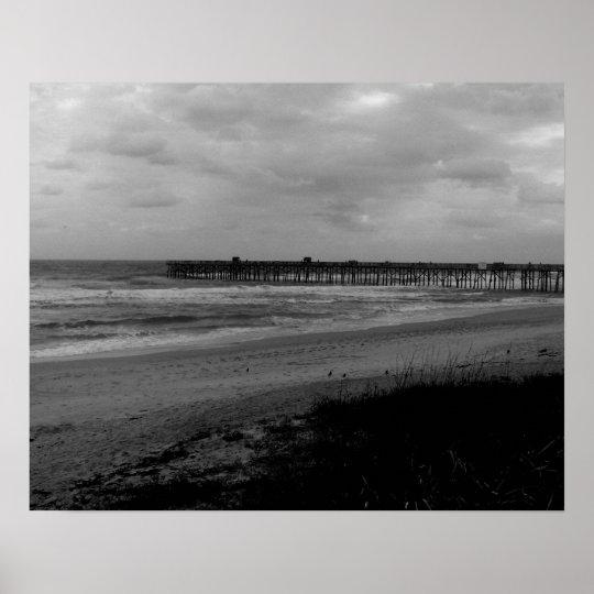 Flagler Beach Pier From the Shoreline Poster