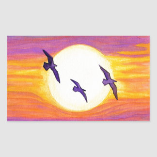 Flagler Beach Seagulls Rectangular Sticker