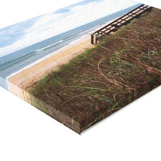 Flagler Beach Walkway Stretched Canvas Print