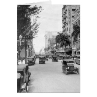 Flagler Street, Miami, 1920s Greeting Card
