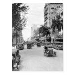 Flagler Street, Miami, 1920s Postcard