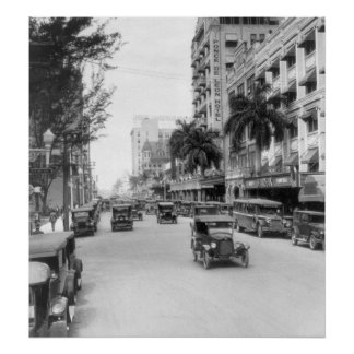 Flagler Street, Miami, 1926 Poster