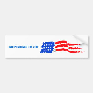 flagpaint, Independence day 2010 Car Bumper Sticker