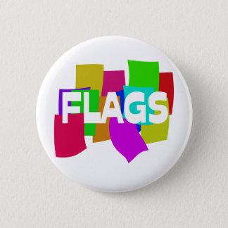 Flags 6 Cm Round Badge