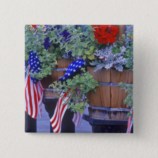 Flags and Flowers in Philipsburg Montana 15 Cm Square Badge